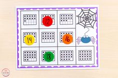 Differentiated spider math activity for kids at all different levels of ability. Pumpkin Seed Activities, Math Activities For Kids, Learning Numbers, Fun Learning, Kindergarten Math, Preschool, Math Centers, Nursery Rhymes, Counting