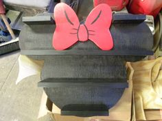 Disney inspired collectables display shelf, Minnie Mouse by KasperCustomCreation on Etsy https://www.etsy.com/listing/174383627/disney-inspired-collectables-display