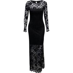 Jane Norman Lace Maxi Dress ($92) ❤ liked on Polyvore