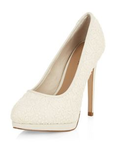 Explore New Look's collection of chic women's high heel shoes and find your favourites from classic closed and peep toe shoes. Platform Stilettos, Stiletto Shoes, High Heels Stilettos, Platform Shoes, White Heels, Shoes Heels, Cream Shoes, Formal Shoes