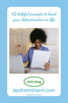 42 helpful prompts to boost your determination in life #determination #ambitious Determination, Prompts, Success, Life, Motivation, Inspiration