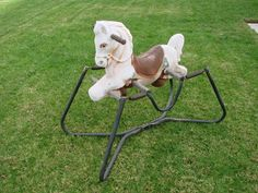 "$40.00 - VINTAGE 1950's ""WONDER"" Rocking Horse - Posted in Ebay Classifieds"