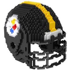 ( not Legos, but awesome! ) Pittsburgh Steelers NFL 3D BRXLZ Puzzle Helmet Set (SHIPS IN NOVEMBER)