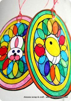 Easter eggs and mandala coloring