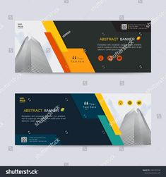 Vector Abstract Web Banner Header Background Stock Vector (Royalty Free) 1581337234