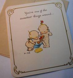 Vintage unused kewpie american greetings birthday card envelope 1970s kewpie birthday card with envelope includes adorable decorative envelopes in tan color with kewpies bookmarktalkfo Gallery
