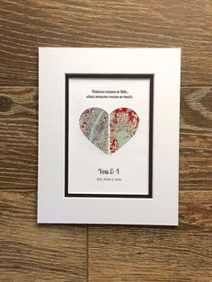 Distance Means So Little...First Anniversary or Wedding Gift Bf Gifts, Gifts For Wife, Boyfriend Gifts, Paper Anniversary, First Anniversary, Long Distance Relationship Gifts, Distance Relationships, Heart Map, Heart Print