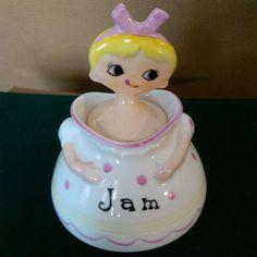 Pixie ware Jam Jar with spoon