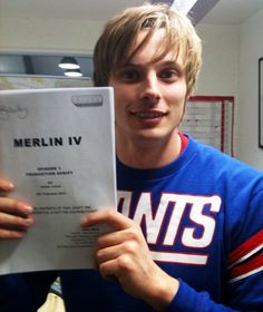 Bradley with the Season 4 script