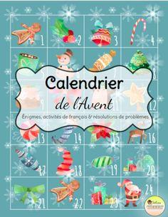 Faites le décompte jusqu'à Noël avec vos élèves. Derrière chaque porte se trouve des énigmes, activités de français et résolution de problèmes.