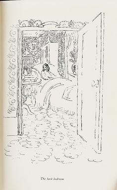 Vanessa Bell. The Back Bedroom:  graphite drawing for Flush, [1932?].