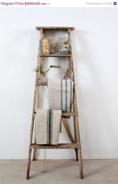 SALE antique painter's ladder / old wood ladder by 86home on Etsy, $355.50