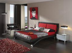 Maria 4 Pcs Bedroom Set (Queen Size bed, Dresser, Mirror and Nightstand) - ESF Furniture