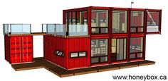 HoneyBox INC. shipping container architecture