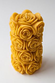 Beeswax candle BIG ROSE Candle eco friendly by RomanticCandle Natural Candles, Unique Candles, Oil Candles, Beeswax Candles, Handmade Candles, Candle Lanterns, Scented Candles, Decorative Candles, Taper Candles
