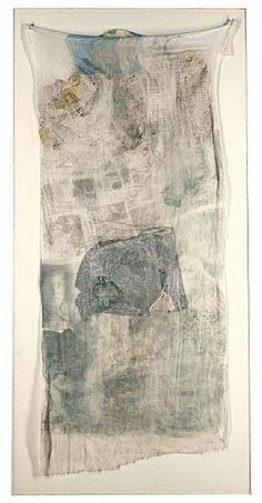 Robert Rauschenberg, Hoarfrost (keeper), 1974; Collage and solvent transfer on cloth
