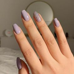 Over 35 beautiful nail art designs that will draw your attention .,Over 35 beautiful nail art designs that will draw your attention . # art Preference of Cleopatra is Body Red. Summer Acrylic Nails, Best Acrylic Nails, Matte Nails, Acrylic Nail Designs, Acrylic Art, Purple Nails, Purple Glitter, Short Rounded Acrylic Nails, Pink Black Nails