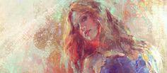 Painting a Beautiful Woman Artwork