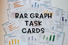 Bar Graph Task Cards and Bar Graph Quiz! These are great for math games like scoot! This has horizontal and vertical graphs.