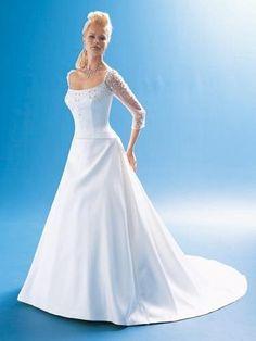 Robe de mariée de nouveauté avec des manches mi longue