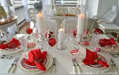 Valentine's Day Table Setting: Candlelit and Romantic❤ ❤ ❤