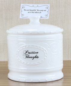 Love this 'Positive Thoughts' Jar & Card Set on #zulily! #zulilyfinds