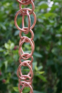 Pure thick copper rain chain! Lovely