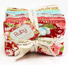 Ruby Fat Eighth Bundle by Bonnie and Camille by CottonBerryfabrics