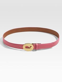 Vineyard Vines  Cutout Whale Buckle Leather Belt