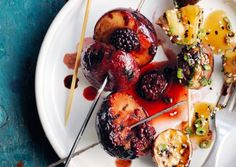 Plum-and-Blackberry-Skewers-with-Balsamic-Glaze