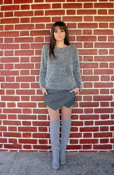 Irregular Striped Shorts