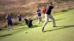 Players try 'Happy Gilmore' shot at Scottish Open  (Photo via @Golf Channel) #Golf