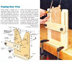 Coping Saw Vise - Hand Tools Tips and Techniques | WoodArchivist.com