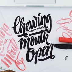 I'm sure everyone can relate that people 'chewing with their mouth open' is a pet peeve  Awesome typography inspiration by @chuckchai  #typography #type #graphicdesign #art #beautiful #inspiration #typelove #brushscript #handdrawn #yeah #customtype #love #drawing #typegods #dailytype #crayligraphy #quote #handlettering #lettering #design #typeyeah