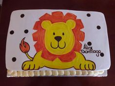 Pastel de leon Bb, Cake, Desserts, Food, Lion King Birthday, Animal Birthday, Pastries, Pintura, Pie Cake