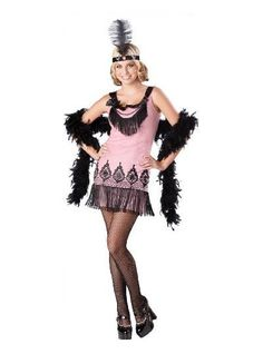 cute+teen+costumes | In Character Teen Girls Cute Pink 20s Flapper Halloween Costume S ...