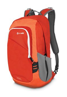 A vibrant Venturesafe 15L in Sunset Red.