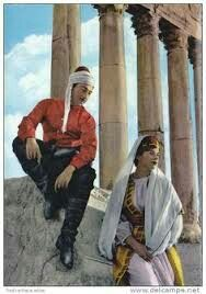 Old picture about Dabke in Lebanon