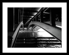 Under Framed Print featuring the photograph Under The Bridge by Cuiava Laurentiu