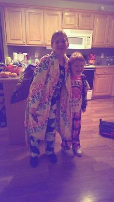 Lily and Trinity, Pajama Day at School:)