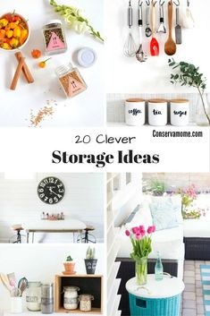 ea022b441e Here s a fun round up of 20 Clever Storage Ideas to help get your home  organized. Most important they re easy   fun to make. Here s a fun round u
