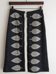 cute skirt with leaf print