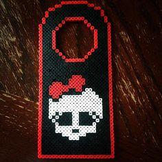 Monster High door hanger perler beads by Liz DeJesus