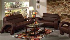 Irisa Chocolate PU Living Room Set