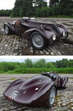 Vintage Cars Classic 1938 Alfa Romeo Mille Miglia Spyder via specialcar Classic Sports Cars, Classic Cars, Classic Rock, Cars Vintage, Antique Cars, Sexy Cars, Hot Cars, Design Autos, Design Cars