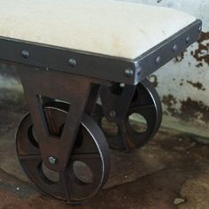 Elegant Portable Fabric Bench With Rolling Wheels
