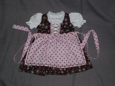 Hey, I found this really awesome Etsy listing at https://www.etsy.com/listing/208814715/pink-and-brown-baby-dirndl