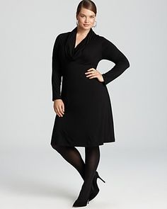 Karen Kane Plus Cowl Neck Dress.  I love a cowl neck, and this is a great winter dress.