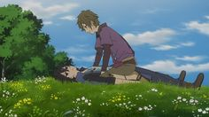 Satoru and Shun of Shinsekai Yori. A series not in the BL genre.