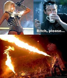 Hahaaa. Lady Gaga vs. Rammstein. R+ literally fry the first 50metres of the audience, and we say bring it!!